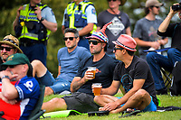 Fans watch from the embankment during day four of the second International Test Cricket match between the New Zealand Black Caps and Pakistan at Hagley Oval in Christchurch, New Zealand on Wednesday, 6 January 2021. Photo: Dave Lintott / lintottphoto.co.nz
