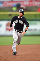 New York Yankees second baseman Rob Refsnyder (98) during a Spring Training game against the Philadelphia Phillies on March 27, 2015 at Bright House Field in Clearwater, Florida.  New York defeated Philadelphia 10-0.  (Mike Janes/Four Seam Images)