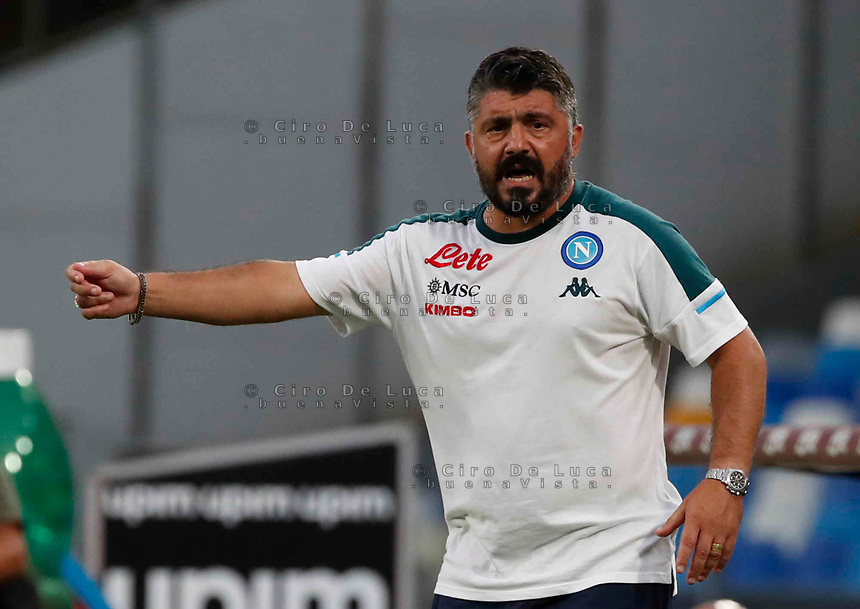 Gennaro Gattuso  during a friendly match Napoli - Pescara  at Stadio San Paoli in Naples