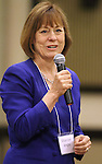 Republican Senate candidate Sharron Angle speaks Wednesday afternoon, Aug. 18, 2010, at the the Washoe Republican Women's luncheon at the Atlantis Resort and Casino in Reno, Nev. .Photo by Cathleen Allison