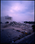 Miami, Florida. January 23, 2005. The Everglades Hotel was built in 1926 at 244 Biscayne Blvd. Miami. It took 50lbs of dynamite, 137lbs of steel cutting charges, and several seconds to bring down the historic 17-story  Everglades Hotel.