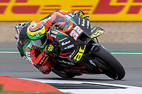 27th August 2021; Silverstone Circuit, Silverstone, Northamptonshire, England; MotoGP British Grand Prix, Practice Day; Aprilia Racing Team Gresini rider Lorenzo Savadori on his Aprilia RS-GP