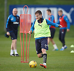 Andy Halliday watched by the gaffer