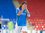 St Johnstone FC Season 2012-13.Stevie May.Picture by Graeme Hart..Copyright Perthshire Picture Agency.Tel: 01738 623350  Mobile: 07990 594431