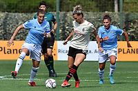 11th September 2021;  Mirko Fersini Stadium, Rome, Italy ; Serie A Womens championship football, Lazio versus Milan ; Adriana Martin of SS Lazio Woman challenges Laura Agard of Milan