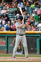 Dustin Martin (4) of the Reno Aces at bat against the Salt Lake Bees in Pacific Coast League action at Smith's Ballpark on July 23, 2014 in Salt Lake City, Utah.  (Stephen Smith/Four Seam Images)