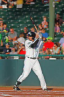 Daytona Tortugas outfielder Sebastian Elizalde (24) at bat during a game against the Tampa Yankees at Radiology Associates Field at Jackie Robinson Ballpark on June 13, 2015 in Daytona, Florida. Tampa defeated Daytona 8-6. (Robert Gurganus/Four Seam Images)
