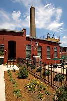 Alpha Mill apartments in Charlotte, NC. The property, developed by Crosland, is a transformed historic cotton mill located in the NoDa Arts District.