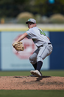 Lynchburg Hillcats relief pitcher Alec Wisely (46) in action against the Kannapolis Cannon Ballers at Atrium Health Ballpark on August 29, 2021 in Kannapolis, North Carolina. (Brian Westerholt/Four Seam Images)