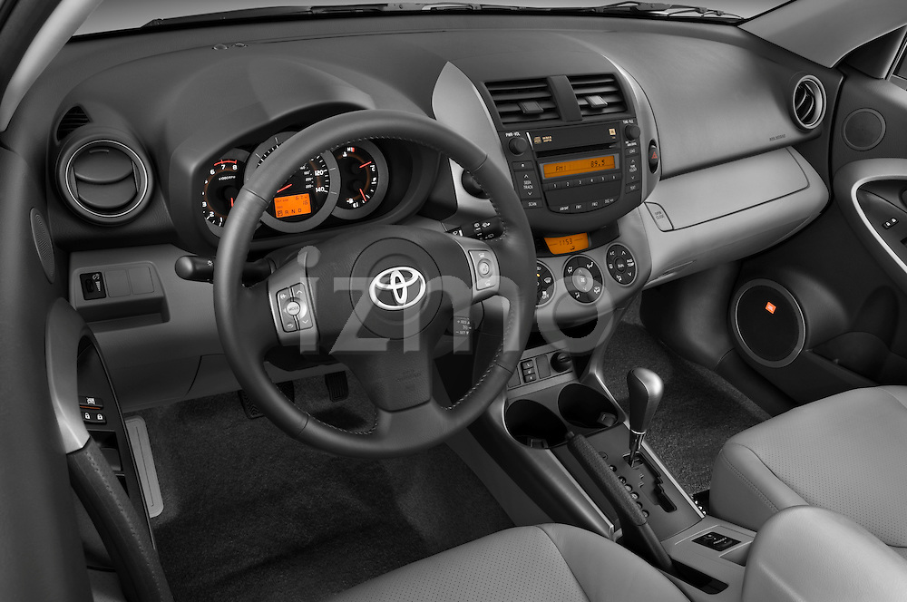 High angle dashboard view of 2008 Toyota Rav 4 Limited SUV Stock Photo