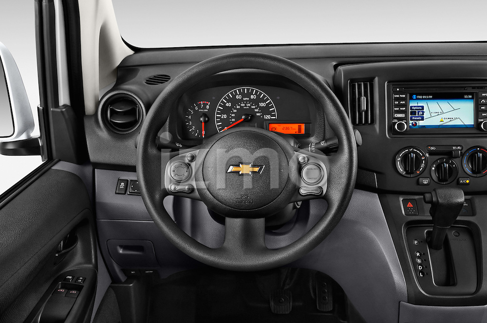 Car pictures of steering wheel view of a2017 Chevrolet City Express LT 5 Door Cargo Van Steering Wheel