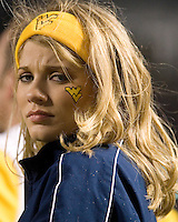 16 November 2006: WVU cheerleader..The West Virginia Mountaineers defeated the Pitt Panthers 45-27 on November 16, 2006 at Heinz Field, Pittsburgh, Pennsylvania.
