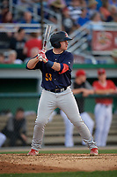 State College Spikes Brylie Ware (53) at bat during a NY-Penn League game against the Batavia Muckdogs on July 3, 2019 at Dwyer Stadium in Batavia, New York.  State College defeated Batavia 6-4.  (Mike Janes/Four Seam Images)