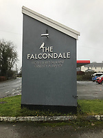 Pictured: The Falcondale Hotel where the wedding reception took place in Lampeter, Wales, UK. Wednesday 11 December 2019<br /> Re: A bride was punched down a flight of stairs by her dress on her wedding day by her brother-in-law - who was also the best man, Aberystwyth Magistrates court has heard.<br /> Tomos Rhydian Wilson went on a drunken rampage at his brother's reception at the Lampeter's Falcondale Hotel in Ceredigion, Wales.<br /> The 29-year-old from Swansea threw punches at bride Erin Mason-George, grabbed her by her wedding dress and also assaulted her two sisters and her mother.