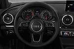 Car pictures of steering wheel view of a 2017 Audi A3  Premium  4 Door Sedan
