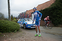 Mirko Selvaggi (ITA/Wanty-Groupe Gobert) crashed<br /> <br /> 70th Dwars Door Vlaanderen 2015
