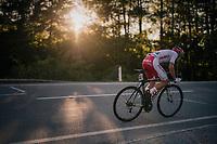 Damian Bieniek (POL)<br /> <br /> MEN JUNIOR ROAD RACE<br /> Kufstein to Innsbruck: 132.4 km<br /> <br /> UCI 2018 Road World Championships<br /> Innsbruck - Tirol / Austria