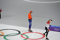 OLYMPIC GAMES: PYEONGCHANG: 18-02-2018, Gangneung Oval, Long Track, 500m Ladies, Lotte van Beek (NED), ©photo Martin de Jong