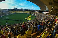 A general view from the grandstand during the A-League football match between Wellington Phoenix and Western United FC at Sky Stadium in Wellington, New Zealand on Saturday, 22 May 2021. Photo: Dave Lintott / lintottphoto.co.nz