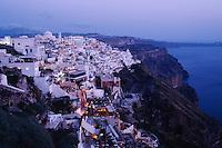 Santorini town, Cyclades,  Santorini Greece, Greece, Europe