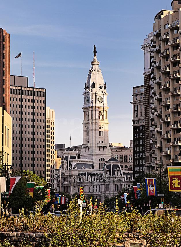 Statue of William Penn atop Philadelphia City Hall, Philadelphia, Pennsylvania