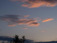 Late evening sun on clouds, Arnside, Lancashire, UK.