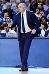 Real Madrid's coach Pablo Laso during Liga Endesa match between Real Madrid and FC Barcelona Lassa at Wizink Center in Madrid, Spain. March 12, 2017. (ALTERPHOTOS/BorjaB.Hojas)