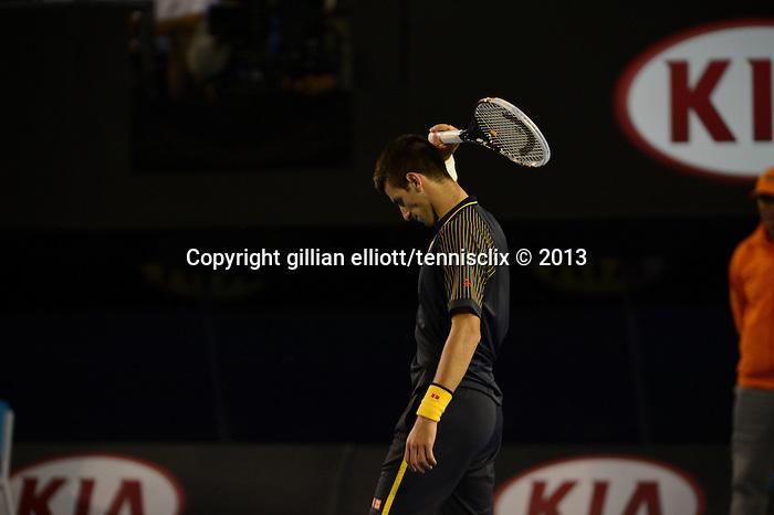 Novak Djokovic (SRB) Wins Australian Open in four set victory on January 27, 2013 in Melbourne