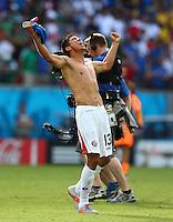 Oscar Granados of Costa Rica celebrates at full time
