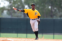 GCL Pirates shortstop Alen Hanson #31 during a game against the GCL Braves at Disney Wide World of Sports on June 25, 2011 in Kissimmee, Florida.  The Pirates defeated the Braves 5-4 in ten innings.  (Mike Janes/Four Seam Images)