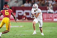 LOS ANGELES, CA - SEPTEMBER 11: John Humphreys during a game between University of Southern California and Stanford Football at Los Angeles Memorial Coliseum on September 11, 2021 in Los Angeles, California.