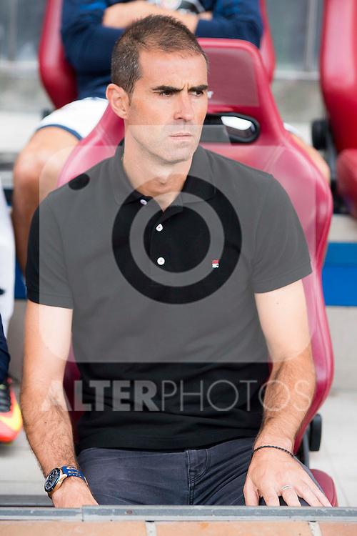 Deportivo de la Coruña's coach Gaizka Garitaño during a match of La Liga Santander at Vicente Calderon Stadium in Madrid. September 25, Spain. 2016. (ALTERPHOTOS/BorjaB.Hojas)