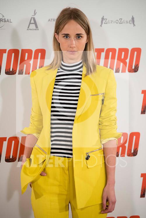 "Ingrid Garcia Jonsson attends to the presentation of the spanish film ""Toro"" at Hotel Hesperia in Madrid, April 19,2016. (ALTERPHOTOS/Borja B.Hojas)"