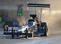 Oct 14, 2016; Ennis, TX, USA; NHRA top fuel driver Scott Palmer during qualifying for the Fall Nationals at Texas Motorplex. Mandatory Credit: Mark J. Rebilas-USA TODAY Sports