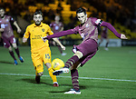 Livingston v St Johnstone…31.10.18…   Tony Macaroni Arena    SPFL<br />Scott Tanser has a shot at goal<br />Picture by Graeme Hart. <br />Copyright Perthshire Picture Agency<br />Tel: 01738 623350  Mobile: 07990 594431