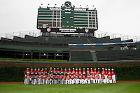 August 8, 2009: Team Photo from the Under Armour All-America game at Wrigley Field in Chicago, IL.  Photo By Mike Janes/Four Seam Images