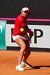 Spain tennis player Eva Guerrero Alvarez during Tennis Junior Fed Cup in Madrid, Spain. September 30, 2015. (ALTERPHOTOS/Victor Blanco)