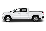 Car driver side profile view of a 2019 Chevrolet Silverado 1500 LTZ 4 Door Pick Up
