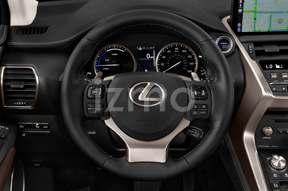 Car pictures of steering wheel view of a 2020 Lexus NX 300h 5 Door SUV Steering Wheel