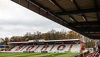 A general view of the Lamex stadium   <br /> <br /> Photographer Andrew Kearns/CameraSport<br /> <br /> The EFL Sky Bet League Two - Stevenage v Bolton Wanderers - Saturday 21st November 2020 - Lamex Stadium - Stevenage<br /> <br /> World Copyright © 2020 CameraSport. All rights reserved. 43 Linden Ave. Countesthorpe. Leicester. England. LE8 5PG - Tel: +44 (0) 116 277 4147 - admin@camerasport.com - www.camerasport.com