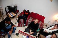 Tunisia, il dopo Rivoluzione: giovani tunisini a casa.<br /> TUNISIA after spring revolution young tunisians at home