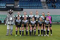 team of Aalst with Annelies Van Loock (9 of Aalst)    Valentine Hannecart (8 of Aalst)   Loes Van Mullem (33 of Aalst)   Margaux Van Ackere  (37 of Aalst)   Tiffanie Vanderdonckt (5 of Aalst)   Goal keeper Silke Baccarne (1 of Aalst)   Justine Blave (22 of Aalst)   Chloe Van Mingeroet (17 of Aalst)   Lieselot De Kegel (15 of Aalst)   Daisy Baudewijns (30 of Aalst)   Anke Vanhooren (7 of Aalst)  pictured during a female soccer game between Eendracht Aalst and AA Gent Ladies on the 10 th matchday of the 2020 - 2021 season of Belgian Scooore Womens Super League , Saturday 19 th of December 2020  in Aalst , Belgium . PHOTO SPORTPIX.BE | SPP | DIRK VUYLSTEKE
