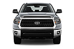 Car photography straight front view of a 2018 Toyota Tundra SR5 5.7L Crew Max 4WD Short Bed 4 Door Pick Up
