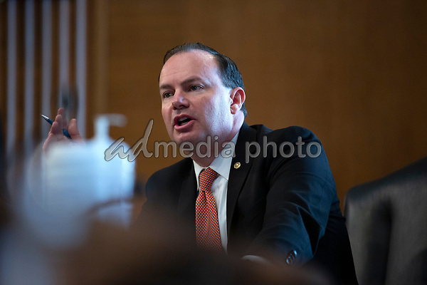 United States Senator Mike Lee (Republican of Utah) speaks during a U.S. Senate Committee on Energy and Natural Resources hearing on Capitol Hill in Washington D.C., U.S., on Wednesday, June 24, 2020.  Credit: Stefani Reynolds / CNP/AdMedia/AdMedia
