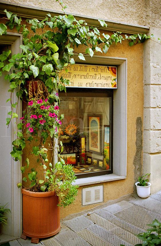 Quaint shop window.