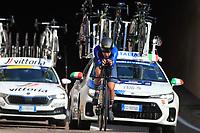 9th September 2021; Trento, Trentino–Alto Adige, Italy: 2021 UEC Road European Cycling Championships, Womens Individual time trials:  BUSSI Vittoria (ITA)