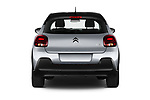 Straight rear view of 2020 Citroen C3 Shine 5 Door Hatchback Rear View  stock images