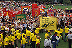Peoples March for Jobs 1983. Hyde Park London. Conservative employment polices under Mrs Thatcher were blamed for the high level of unemployment.