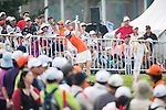 TAOYUAN, TAIWAN - OCTOBER 27:  Alison Walshe of USA tees off on the 1st hole during the day three of the Sunrise LPGA Taiwan Championship at the Sunrise Golf Course on October 27, 2012 in Taoyuan, Taiwan.  Photo by Victor Fraile / The Power of Sport Images