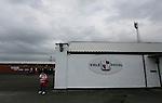 Port Vale 3 Doncaster Rovers 0, 22/08/2015. League One, Vale Park. A Doncaster fan outside Vale Park under grey skies. Photo by Paul Thompson.